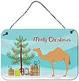 Caroline's Treasures Arabian Camel Dromedary Christmas Metal Print, 8'' x 12'', Multicolor