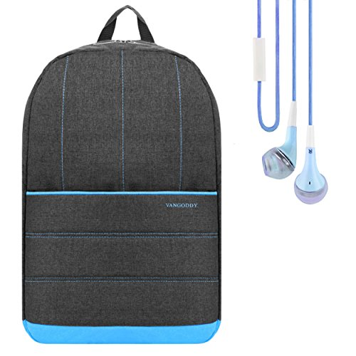 Hewlett Packard Earphones - Grove Padded Backpack Travel Bag (Baby Blue) for HP Pavilion x360 / Spectre x360 Series 13.3