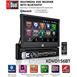 Dual Electronics XDVD156BT Multimedia Retractable & Detachable 7-inch LED Backlit LCD Touchscreen Single DIN Car Stereo Receiver with Built-In Bluetooth, CD/DVD, USB, microSD Card & MP3 Player