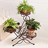AIDELAI flower rack Creative Metal Simple Flower Racks Indoor And Outdoor Living Room Balcony Decoration 3 Layers Flower Pot Rack Patio Garden Pergolas (Color : #3)