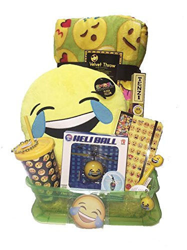OMG - LOL Ultimate Emoji Tween Girls Gift Basket with Tenzi Smiley Dice Game - Perfect for Birthday, Get Well Soon, BFF