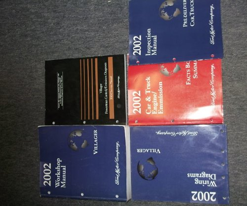 2002 mercury villager service shop repair manual set (service manual,  wiring diagrams manual,powertrain control emission diagnosis manual,facts  book summary