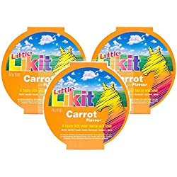 Manna Pro 3 Pack of Little Likit Carrot Treat Refills for Horses