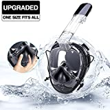 anglink 180° Full Face Snorkel Mask With Gasbag Design, 2018 Newest Anti-fog and Anti-leak Technology Easybreath Snorkeling Gear Compatible Adult, Youth, Kids