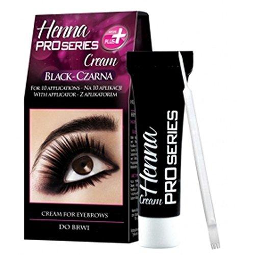 (Verona Pro Series Henna Cream Black for Eyebrows - 10 applications)