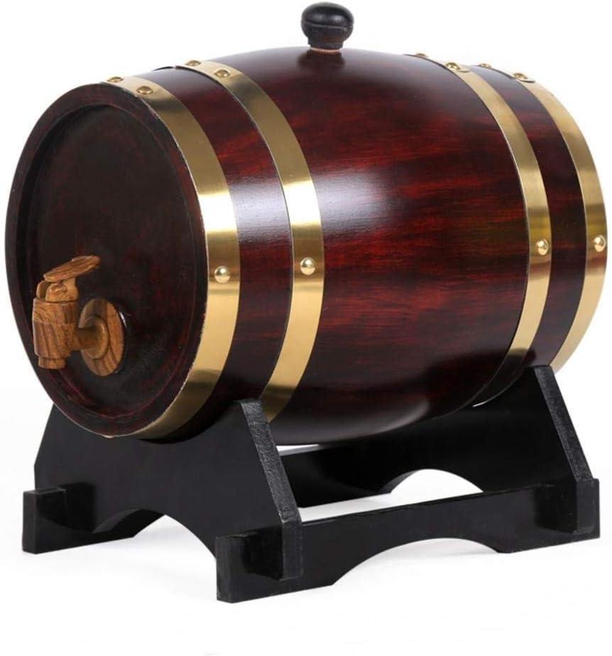RMXMY Bar Knight Oak Barrel Whisky Cocktail Bar Especial Barril de Vino Blanco Barril de Cerveza Barril de Vino Barril de Almacenamiento (1.5L-30L) (Tamaño : 1.5l)