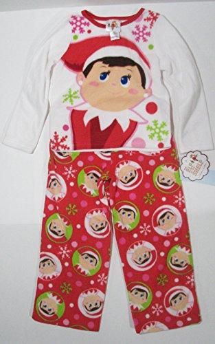 [Elf on the Shelf 2-Piece Fleece Pajama Set - Youth Girls XS] (Elf On Shelf Costumes)