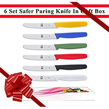 Amazon Com 6 Piece Straight Paring Knife Set Includes