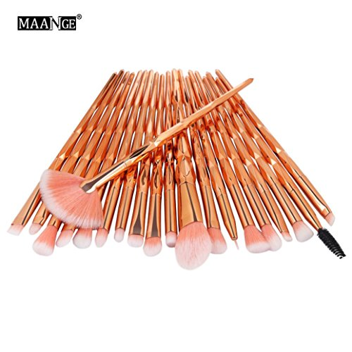 20PCS Make Up Foundation Eyebrow Eyeliner Blush Cosmetic Concealer Brushes (B)