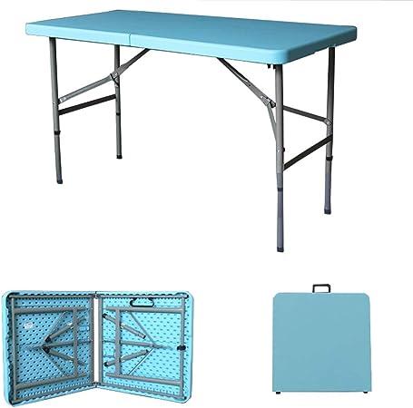 JQQJ Mesa Plegable Jardín Plegable al Aire Libre Restauración Mesa de Caballete for la Cena mesas Plegables terraza (Color : Blue, Size : 1.2x0.74 Meter): Amazon.es: Hogar