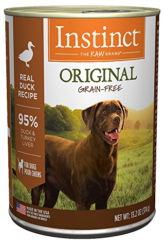 Instinct Original Grain Free Real Duck Recipe Natural Wet Canned Dog Food By Nature'S Variety, 13.2 Oz. Cans (Case Of 6)