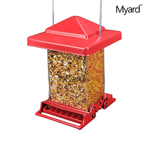 myard-rocket-double-sided-squirrel-resistant-proof-large-capacity-tube-bird-feeder-mbf-75160n-r-red
