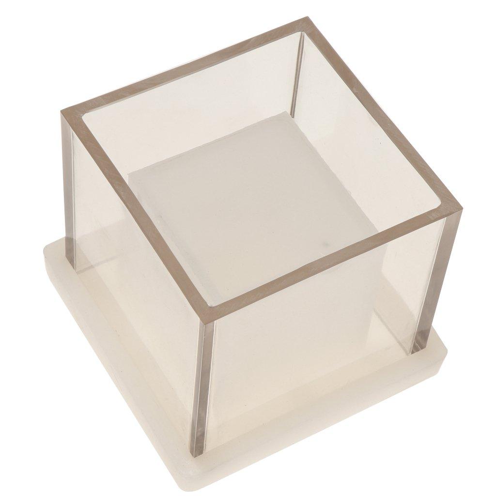 Cubo Quadrato Forma Vuoto Stampo per Candela Fabbricazione Mestiere Fai Da Te