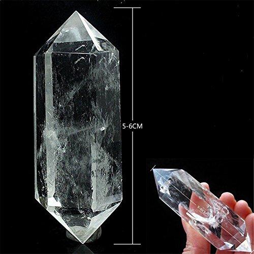 LianLe 5-6cm Healing Crystal Wands Natural Fluorite Treatment stone Quartz Crystal Stone Point Healing Hexagonal Wand White