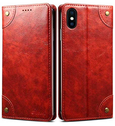 iPhone XR Case, SINIANL Leather Wallet Folio Case Book Design Flip Cover with Stand and ID Credit Card Slot Magnetic Closure for iPhone XR 6.1 inch 2018