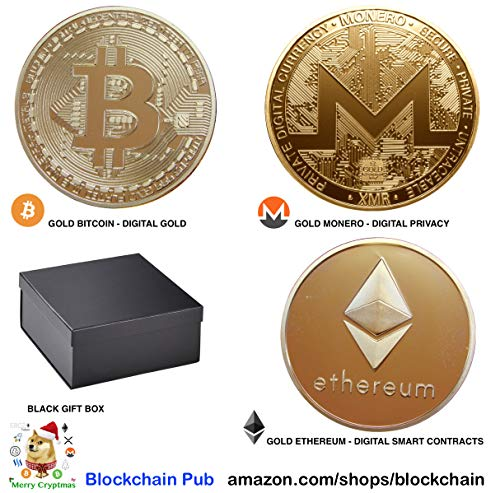 Bitcoin Gold Plated Commemorative Bitcoin Collectible Gifts Gold Iron Miner Coin