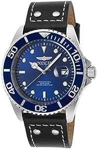Invicta Pro Diver Men's Blue Dial Leather Band Watch - INVICTA-22068
