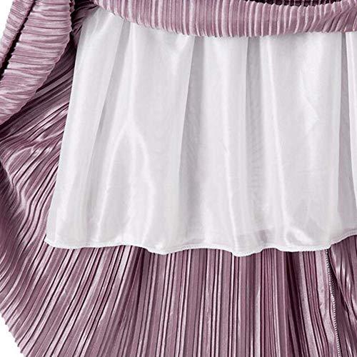 Silver Da Elastica Size Green Dress Gonna Le In Festa Pieghettata Spiaggia Figura Gray Vestito Intera Piena One Vita Donne Dark Size Maxi Home Lunga color Girls A Per F6Bn0x0