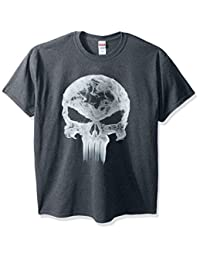 Marvel Mens Men's Punisher Classic Logo Smoke T-Shirt