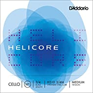D'Addario Helicore Cello String Set, 3/4 Scale, Medium Tension