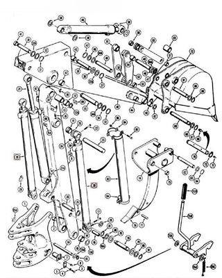 Amazon Com 1971702c4 Backhoe Swing Cylinder Made To Fit Case 580k