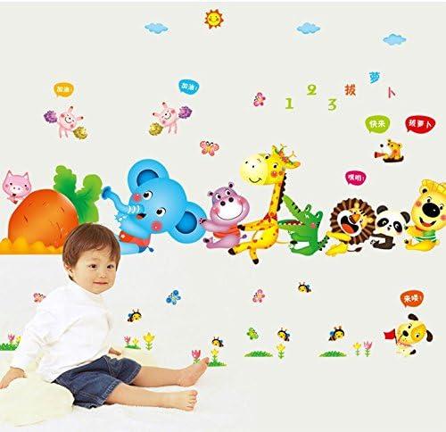 Chambre dEnfant P/épini/ère D/écalcomanies Murales Autocollants Amovibles ufengke/® Cartoon Animaux Sortent Radis Stickers Muraux