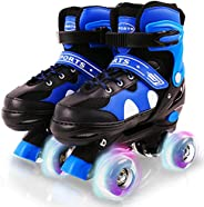 Ceestyle Rainbow Adjustable Light Up Roller Skates for Girls Boys,All Wheels of Skates Shine, Safe Fun Illumin