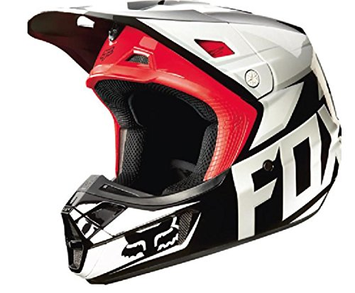 Fox Racing Race Men's V2 Motocross Motorcycle Helmet - Black / X-Small ()
