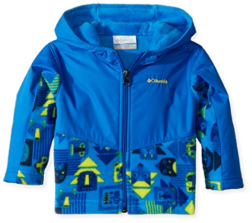 Columbia Unisex Baby Infant Steens Mt Overlay Hoodie, Super Blue Critters Print, 12/18