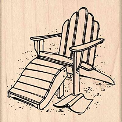 Stamps by Impression Adirondack Chair Rubber Stamp: Arts, Crafts & Sewing