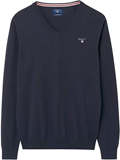 Gant Gloves in Navy Blue SALE cotton and wool blend