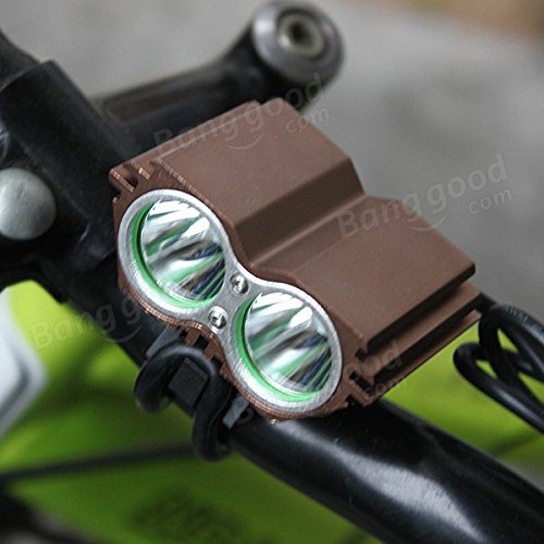 Moppi XM-l t6 2x LED bici bicicleta luz de la cabeza delante de los faros