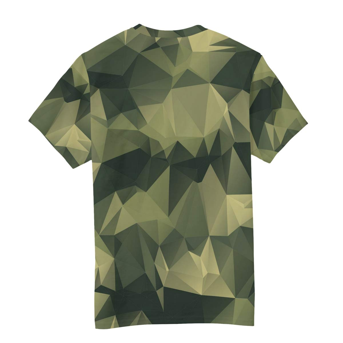 Horatiood Huberyyd Polygonal Leafy Camo Hat Mens T Shirts Graphic Funny Body Print Short T-Shirt Unisex Pullover Blouse