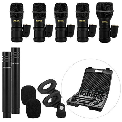 Drum Kit Sounds - Nady DMK-7 7-Piece Drum Microphone Kit