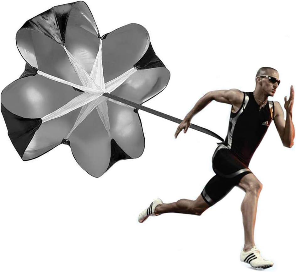 Black 56 inch Speed Drills Resistance Parachute Running Sprint Chute Soccer Football Sport Speed Training Kuerqi Running Speed Training