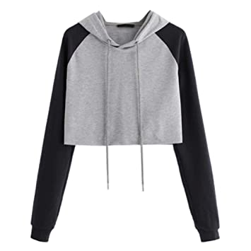 7edb9dc91e383b Amazon.com  Ankola Cropped Hoodies
