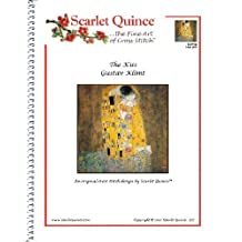 Scarlet Quince KLI001lg The Kiss by Gustav Klimt Counted Cross Stitch Chart, Large Size Symbols