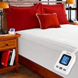 SimplyWarm Electric Heated Channel Quilted Mattress Pad with Sensor-Safe Overheat Technology - New for 2018 HIGH TEC Digital Controller (Full w/Single Controller)
