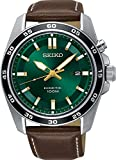 Seiko- SKA791P1 Mens Kinetic Watch With Brown Leather Strap and Date Display