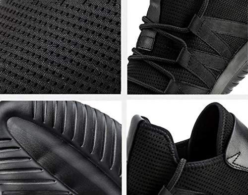 Athletic De Pour up black Meshsneakers noir Blanc Nouveau Lace Chaussures Printemps 2018 40 Hommes confortable automne Shoes Durable Sport ORqqx7d