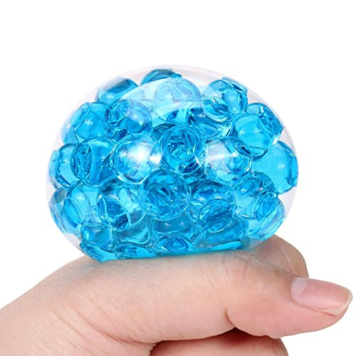 Spongy Bead Stool Squishy Toy Mini Kawaii Squishy Squeeze Depression Healing Fun Charm Slow Rising Simulation Kids Toy Adult Stress Reliver Relief Prime (Blue) (Stool Banana)