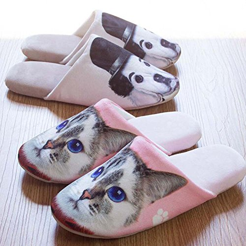 Print 3D Warm Eastlion amp; amp; Keep Dog Indoor Slipper Skid Men's Shoes Winter Lovely Women's Cat One Size 6 Color Anti S8Iq1