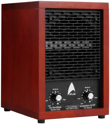 Atlas Air Purifier ATLS-303 with Negative Ion, 3 plate ozone production and UV, it comes with a 3 yrs warranty