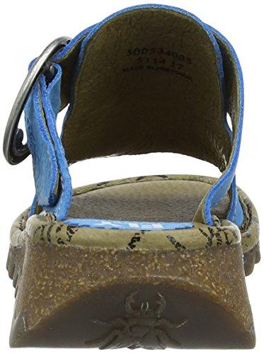 Heel Blue London Wedge Tute Women's Azure Sandals Fly qIxORww
