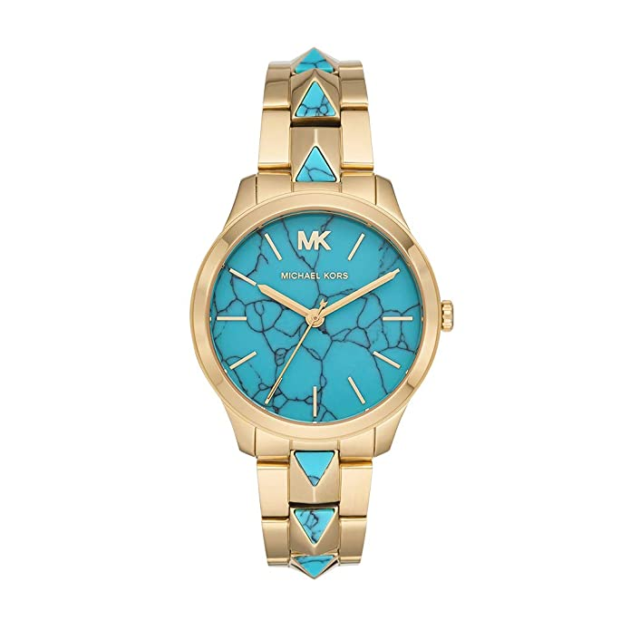 michael kors womens runway mercer quartz watch with stainless steel strap, gold, 18 (model: mk6670)
