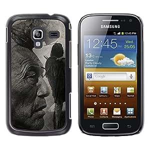 TECHCASE**Cubierta de la caja de protección la piel dura para el ** Samsung Galaxy Ace 2 I8160 Ace II X S7560M ** Native American Indian Man Art Nature Hair