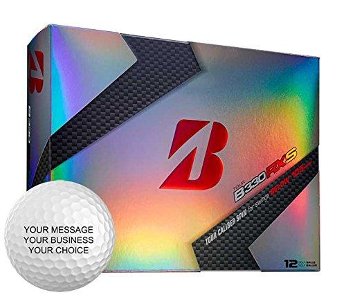 Bridgestone B330RXS Personalized Golf Balls - Add Your Own Text (12 Dozen)