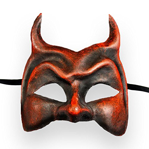 VIVO Masks Mens Red Devil Venetian Masquerade Mask]()