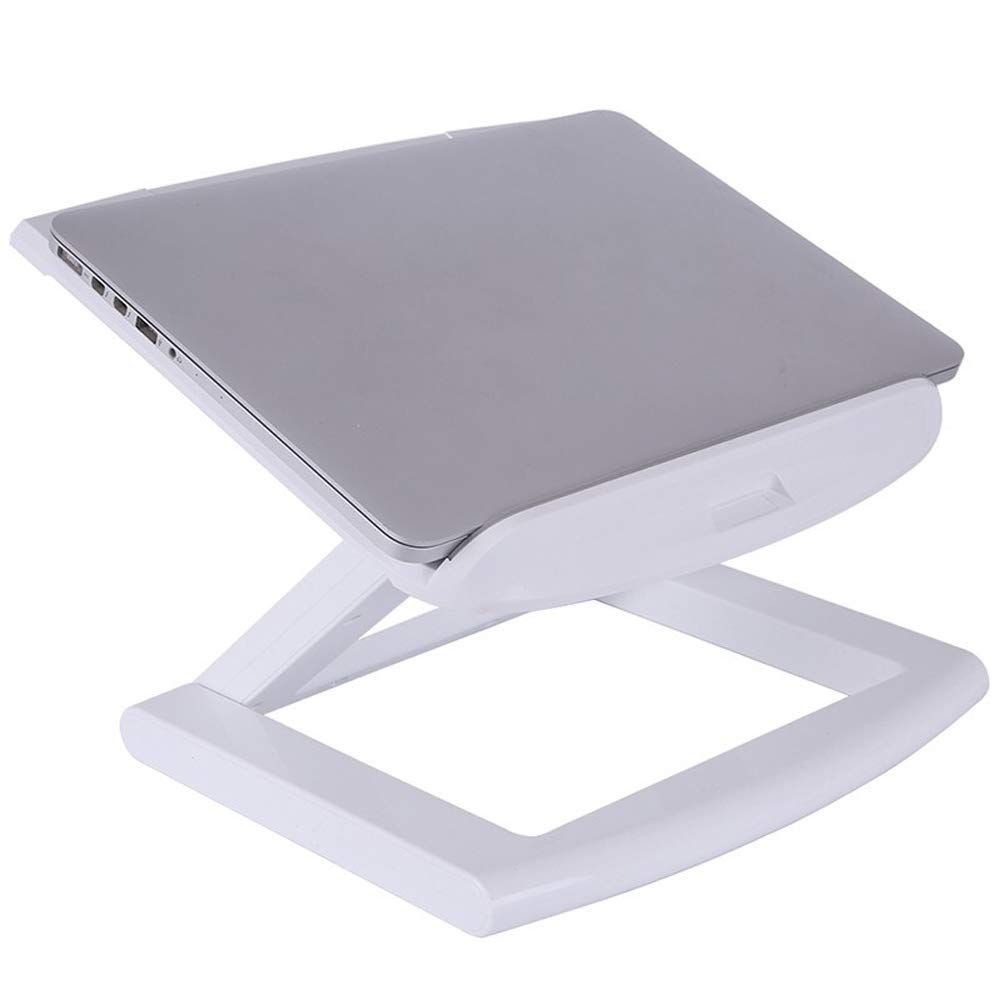 ZJ ⓇNotebook Cooler Notebook Stand - ABS, stepless Adjustment, Three-Layer Folding, Creative Portable Lifting and Protecting Cervical Spine Notebook Lightweight Cooling Base - 2 Colors Optional &&