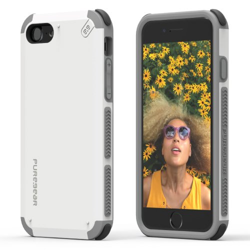 100% authentic 5fa00 3ad2f PureGear iPhone 8/7, DualTek Snap On Durable Slim Protective Stylish Shock  Absorbing Case, Arctic White